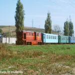 Hier hat Mixt 2921 Agnita wieder verlassen. Rechts im Bild ist das Flügelsignal zu erkennen, das aus Sibiu kommenden Züge die Einfahrt in den Endbahnhof signalisiert.
