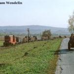 Bei Alțâna kommt es zu dieser schönen Begegnung des Güterzugs mit einem Pferdefuhrwerk.