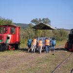Für die weiteren Fahrten an diesem Tag wurde der Waldenburger Wagen K310 für den Fahrradtransport beigestellt