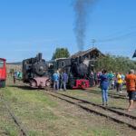 Zurück in Cornățel sind die Dampfloks begehrte und rasch umlagerte Fotoobjekte