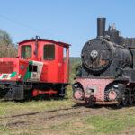"""Diesellok """"RT 3"""" und Dampflok 764 158 präsentieren sich"""