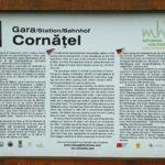 Schautafel am Bahnhof Cornățel
