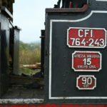 Die eingesetzte Dampflok 764 243 wurde von der CFI Brad ausgeliehen