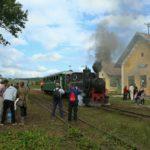 Über 14 Jahre waren solche Anblicke nicht möglich - Bahnverkehr in Cornățel