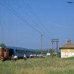"""Auch zwei Tage darauf war in Benești wieder """"großer Bahnhof"""" angesagt, als der Zug nach Agnita hier Station machte"""