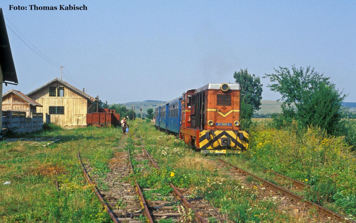 Und auch in Nocrich nutzte Thomas Kabisch die Gelegenheit für ein Foto des Zugs nach Sibiu