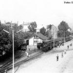 Blick von der Bahnhofsbrücke auf die Schmalspurgleise in Sibiu