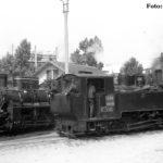 Hier die 1952 oder 1953 von Reșița gebaute 764 106 der CFR. Die Lok trägt die Nummer in Zweitbesetzung. Die Maschine entspricht dem Typ, der in Großzahl auf den rumänischen Waldbahnen der CFF zum Einsatz kam.